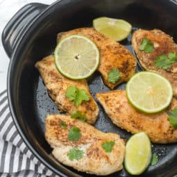 Mexican Skillet Chicken with Black Bean Sauce