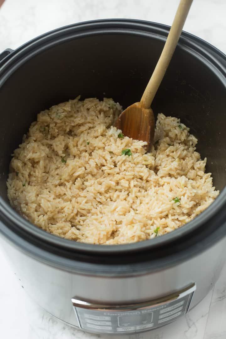 Hamilton Beach rice cooker with cilantro lime rice