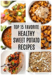 15 healthy sweet potato recipes you'll love! For breakfast, lunch, and dinner