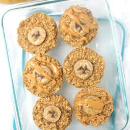 Peanut Butter Banana Oatmeal Cups