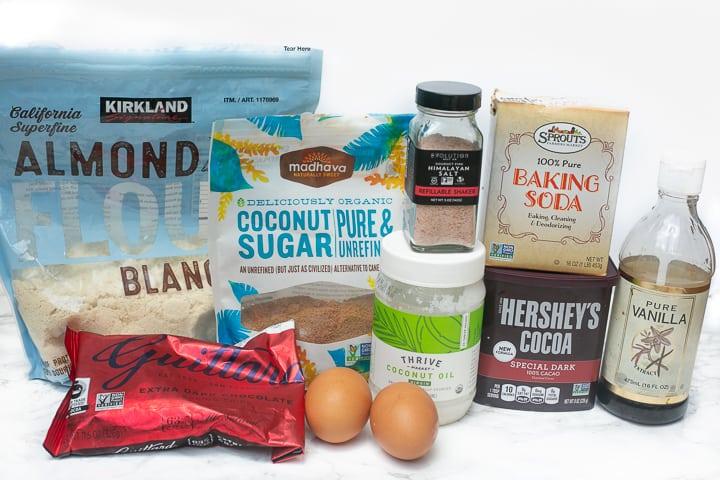 almond flour brownies ingredients