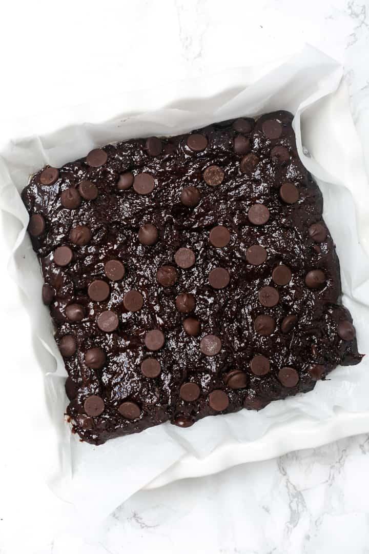healthy almond flour brownies pan